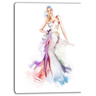 Designart - Beautiful Fashion Girl - Contemporary Artwork
