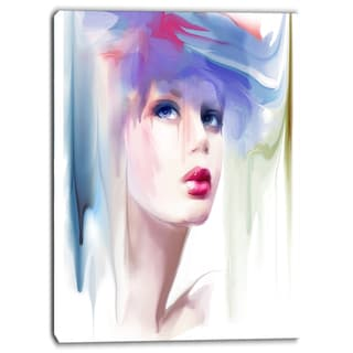 Designart - Portrait of Beautiful Girl - Portrait Contemporary Artwork