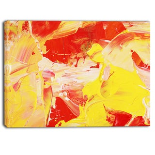 Designart - Yellow and Red Abstract Art - Abstract Canvas Print