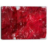 Designart - Abstract Red Texture - Abstract Canvas Art Print
