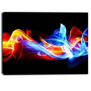Designart - Fire and Ice - Digital Art Abstract Canvas Print
