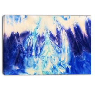 Designart - Blue Life - Abstract Canvas Art Print