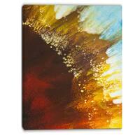 Designart - Blow of Brown - Abstract Canvas Art Print