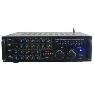 Pyle PMXAKB2000 2000-watt Bluetooth DJ Karaoke Mixer and Amplifier with 2 Microphone Inputs|https://ak1.ostkcdn.com/images/products/11333708/P18308973.jpg?impolicy=medium