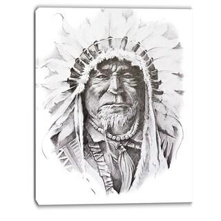 Designart - Native American Indian - Portrait Canvas Art Print
