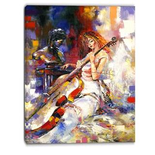 Designart - The Guitarists - Music Canvas Art Print