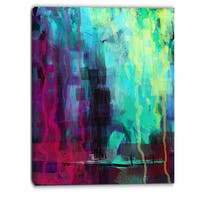 Designart - Abstract Digital Painting - Abstract Canvas Art Print