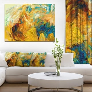 Designart - Abstract Yellow Collage - Abstract Large Canvas Print