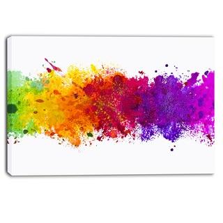 Shop Designart Artistic Watercolor Splash Abstract