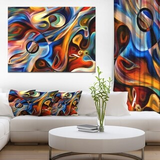 Designart - Abstract Music and Rhythm - Abstract Canvas Art Print