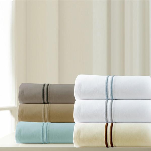 Amraupur Overseas 1000 Thread Count Cotton Rich 6-piece Sheet Set with Double Marrow Hem