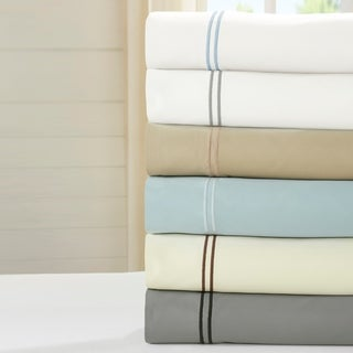 Amraupur Overseas 1000 Thread Count Cotton Rich 6-piece Sheet Set with Double Marrow Hem
