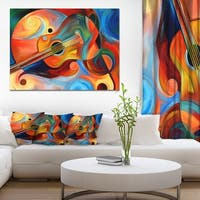 Designart - Music and Rhythm - Abstract Canvas Art Print