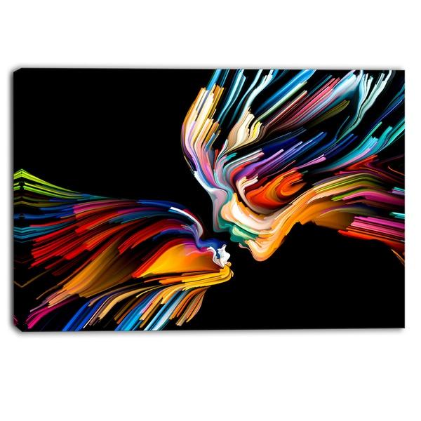 dd42b6e3e9 Shop Designart - Kissing Minds Graphic Art - Abstract Canvas Art ...