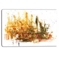 Designart - Abstract Composition Art - Abstract Canvas Art Print