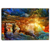 Designart - What Colors May Come - Abstract Canvas Artwork