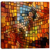 Designart - Dreaming of Stained Glass - Abstract Canvas Artwork