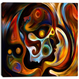 Designart - Perspectives of Inner Paint - Abstract Canvas Artwork