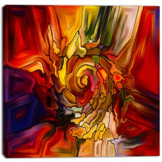 Shop Designart Illusions Of Stained Glass Abstract