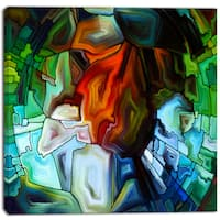 Designart - Abstract Stained Glass Design - Abstract Canvas Print