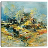 Designart - Abstract Landscape - Abstract Canvas Art Print