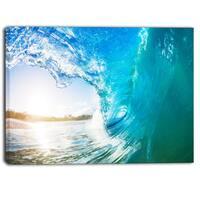 Designart - Blue Waves Arch - Seascape Photo Canvas Art Print