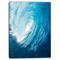 Designart - Ocean Waves in Hawaii - Photo Canvas Art Print