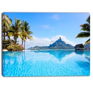 DesignArt - Bora Bora Landscape - Photography Canvas Art Print