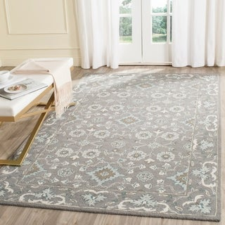 Safavieh Handmade Blossom Grey Wool Rug (4' x 6')