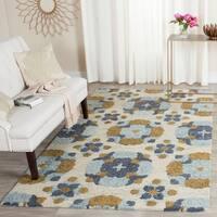 Safavieh Handmade Blossom Beige/ Multi Wool Rug - 4' x 6'