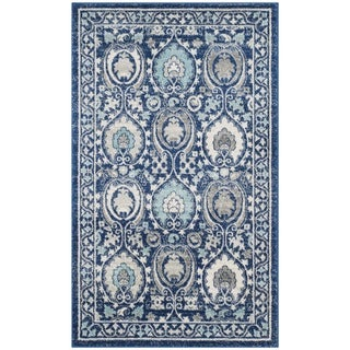 Safavieh Evoke Vintage Blue/ Ivory Distressed Rug (3' x 5')