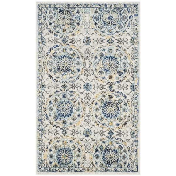 Shop Safavieh Evoke Vintage Ivory Blue Distressed Rug