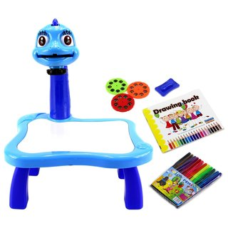 Velocity Toys Kid's Learn and Draw Blue Art Projector/ Wet Erase Board