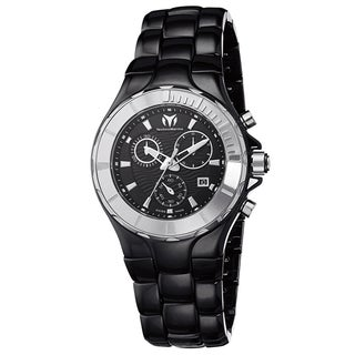 Technomarine Women's Ceramic 110028C Cruise Black Dial Chronograph Watch