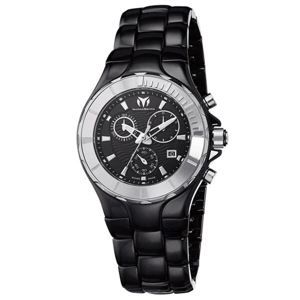 TechnoMarine Women's 'Cruise' Chronograph Black Ceramic Watch