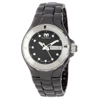 Technomarine Women's Ceramic 110027C Cruise Casual Black Dial Watch