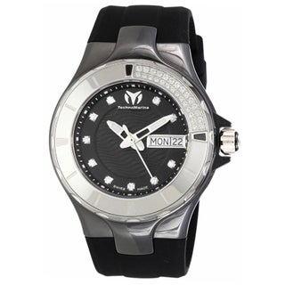Technomarine Women's Silicone 110027 Cruise Black Dial Quartz Watch