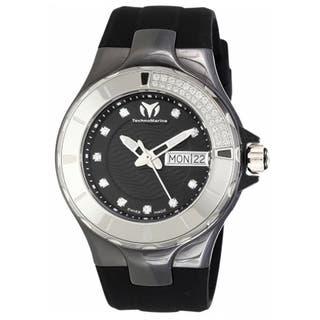 Technomarine Women's Silicone 110027 Cruise Black Dial Quartz Watch|https://ak1.ostkcdn.com/images/products/11333917/P18309189.jpg?impolicy=medium