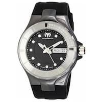 Technomarine Women's Silicone 110027 Cruise Black Dial Quartz Watch