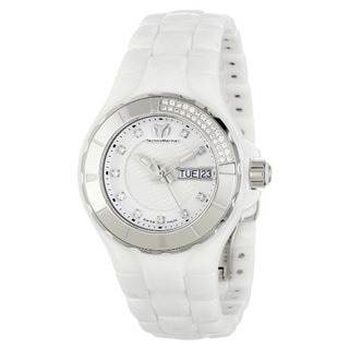 Technomarine Women's Ceramic White Diamond Dial 110023C Cruise Watch