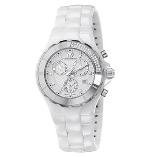 Technomarine Women's Ceramic White Diamond Dial 110031C Cruise Chronograph Watch|https://ak1.ostkcdn.com/images/products/11333927/P18309223.jpg?impolicy=medium