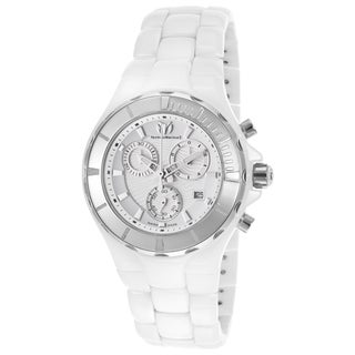 Technomarine Unisex Ceramic 110030C Cruise White Dial Chronograph Watch