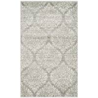 Safavieh Evoke Vintage Damask Grey / Silver Distressed Rug - 3' x 5'
