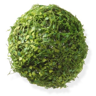 National Tree Company Moss and Mini Leaves 8-inch Ball