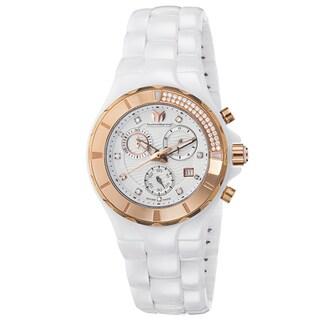 Technomarine Women's Ceramic Diamond 110033C Cruise White Dial Chronograph Watch