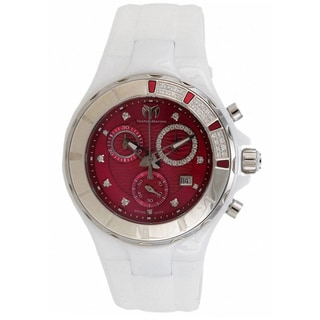 Technomarine Women's White Ceramic 110078 Cruise Red Dial Chronograph Sport Watch
