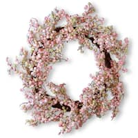 National Tree Company 15.75-inch Light Pink Wreath