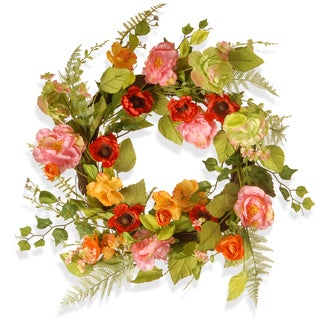 National Tree Company Spring Flower 22-inch Wreath