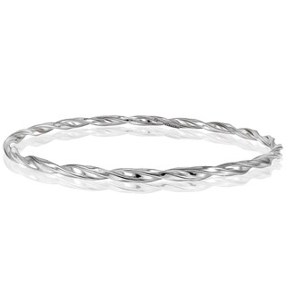 Mondevio High Polished Spiral Twist 3mm Bangle