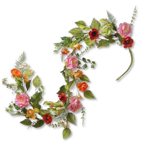 National Tree Company 60-inch Spring Flower Garland